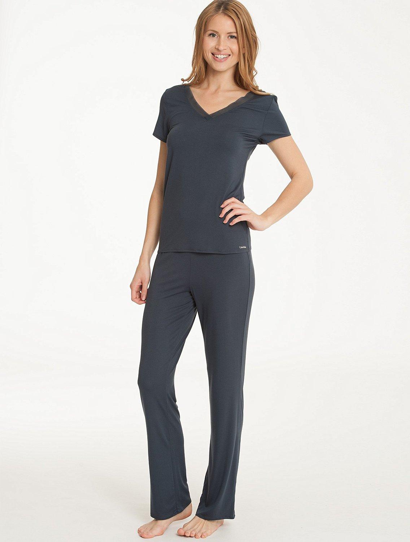 Dámské triko S2633E - Calvin Klein - Petrolejová/L
