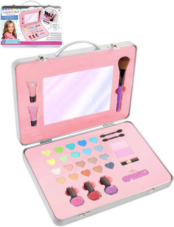 MAKE IT REAL Dětský kosmetický set make-up šminky pro děti v kufříku