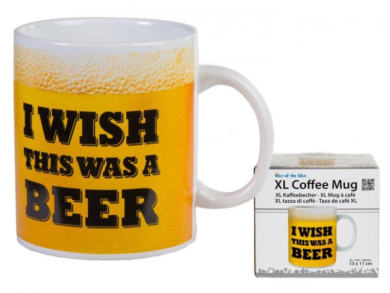 """Hrnek na kávu XL - """"Kéž by to bylo pivo!"""""""
