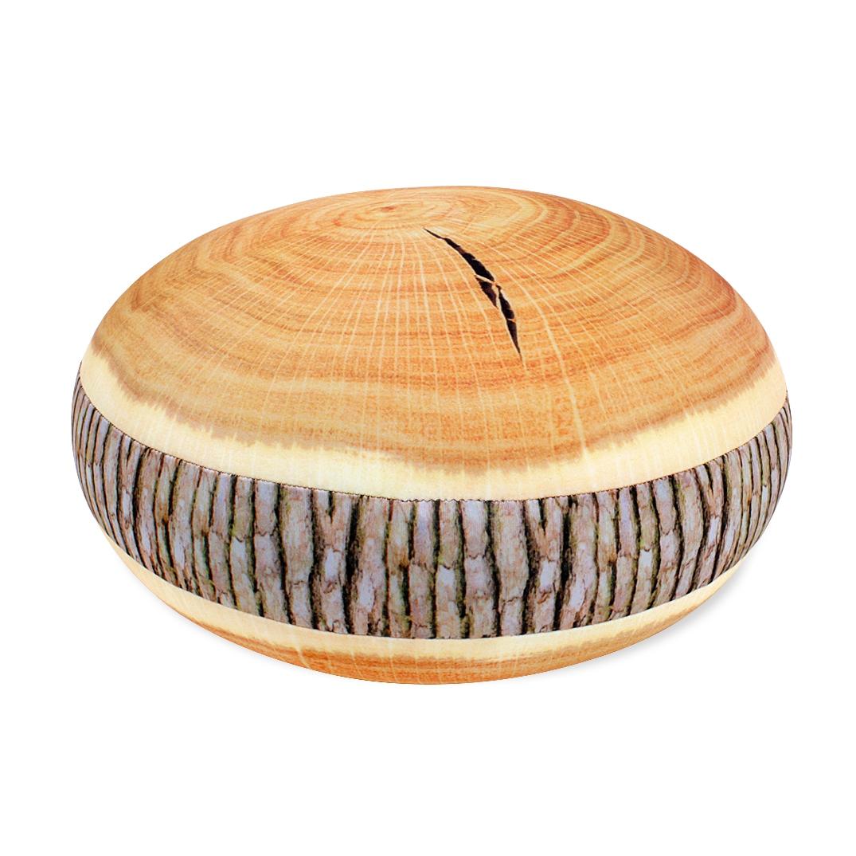 ALBI Kulatý polštář - Dřevo