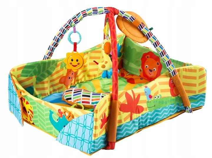 Vzdělávací hrací deka 3v1 - Happy Safari