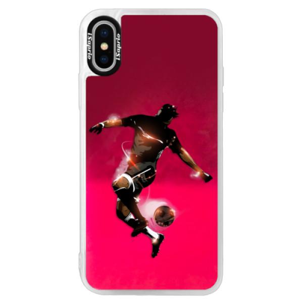Neonové pouzdro Pink iSaprio - Fotball 01 - iPhone X