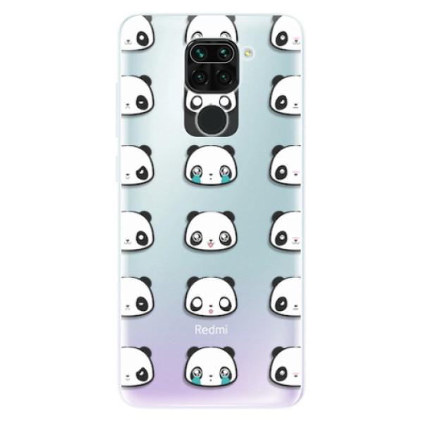 Odolné silikonové pouzdro iSaprio - Panda pattern 01 - Xiaomi Redmi Note 9
