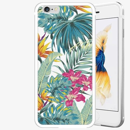 Plastový kryt iSaprio - Tropical White 03 - iPhone 6 Plus/6S Plus - Silver