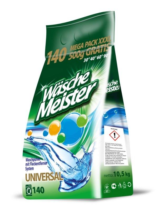 Wäsche Meister Universal prášek na praní bílého i barevného prádla 10,5 Kg (140 praní)