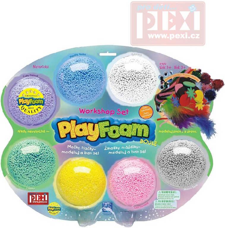 PEXI Modelína dětská PlayFoam workshop kreativní set boule 7ks