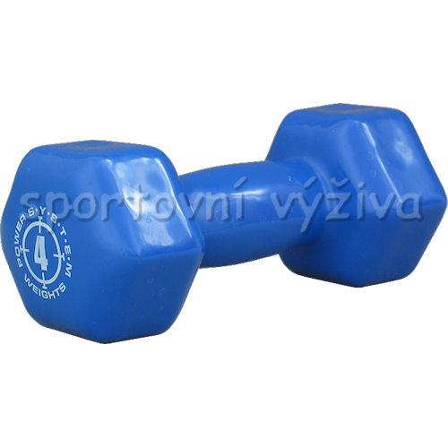 Jednoručka Vinyl Dumbell 4kg blue