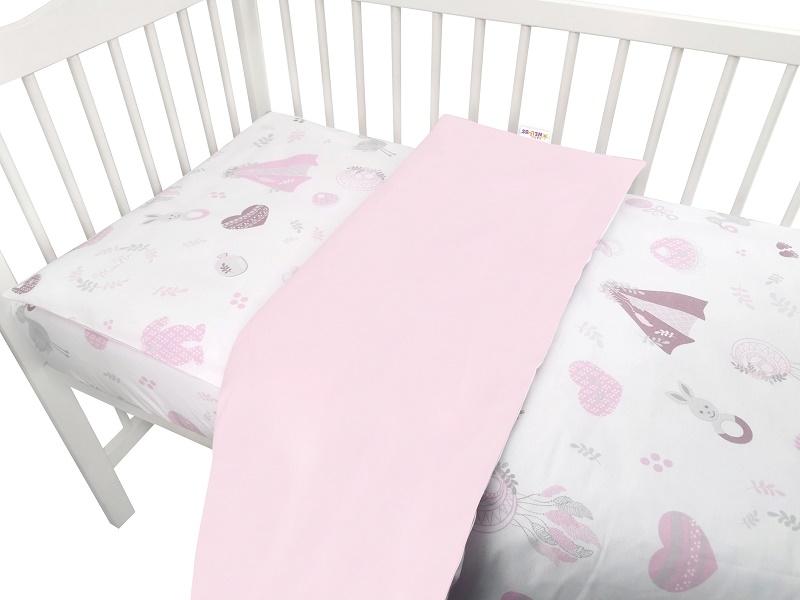 baby-nellys-2-dilne-bavlnene-povleceni-new-love-baby-ruzova-120x90