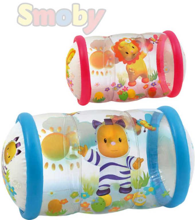 SMOBY Baby válec na lezení Cotoons transparentní 2 barvy pro miminko