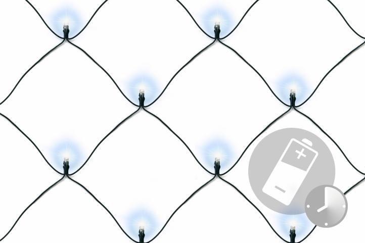 Vánoční osvětlení - LED světelná síť 2 x 2 m - studená bílá 160 diod