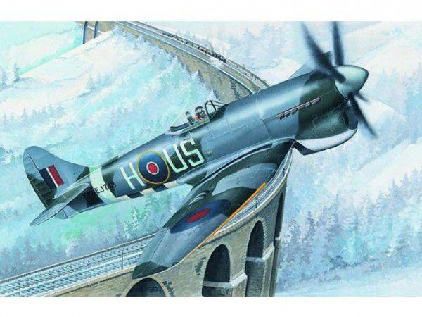 Model Hawker Tempest MK.V 14,2x17,3cm v krabici 25x14,5x4,5cm
