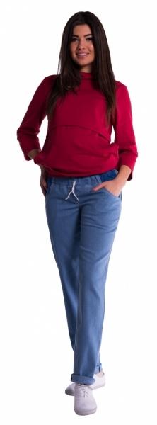 be-maamaa-tehotenske-kalhoty-letni-bez-brisniho-pasu-svetly-jeans-4xl