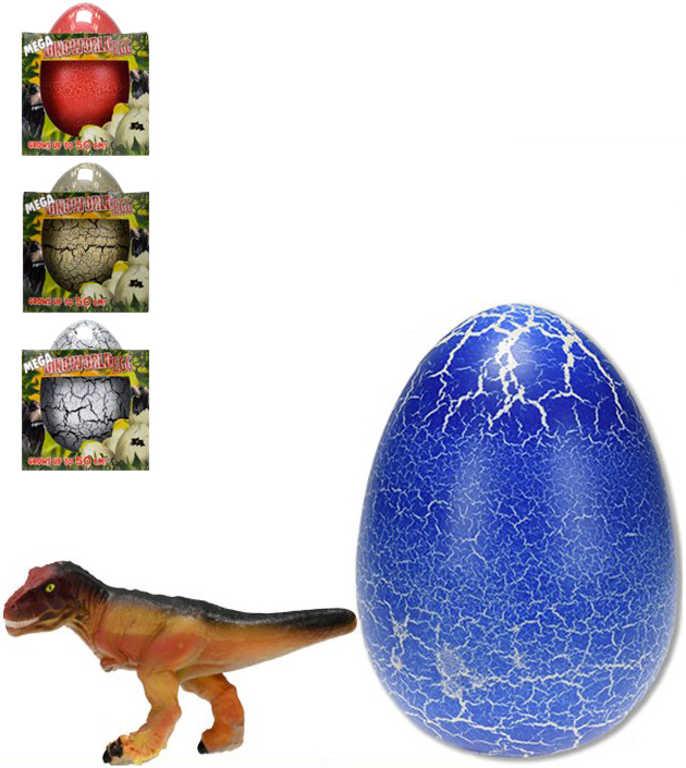 Dinosaurus ve vejci XXL 20cm zvířátko ve vodě rostoucí líhnoucí se 4 barvy