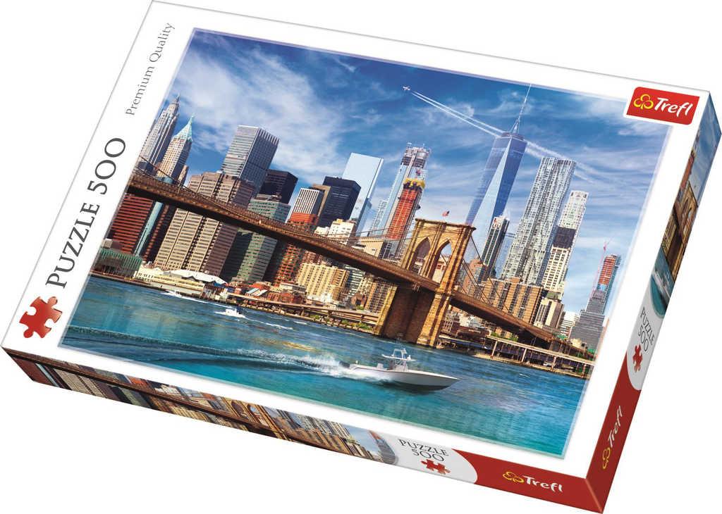 TREFL PUZZLE Foto pohled na New York skládačka 48x34cm 500 dílků