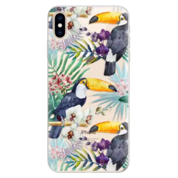 Silikonové pouzdro iSaprio - Tucan Pattern 01 - iPhone XS Max