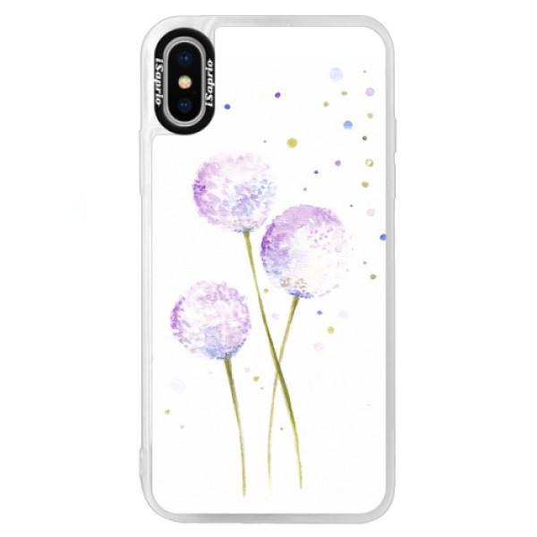 Neonové pouzdro Blue iSaprio - Dandelion - iPhone XS