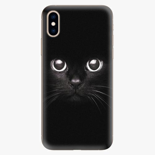 Silikonové pouzdro iSaprio - Black Cat - iPhone XS