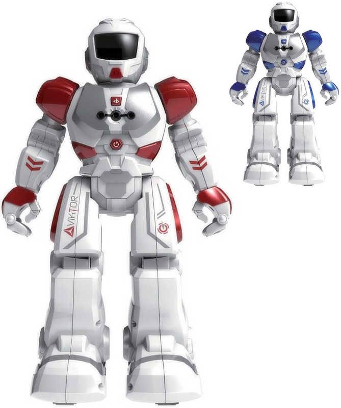 Zigybot Viktor 26cm interaktivní robot reaguje na pohyb ruky na baterie se zvukem 2 barvy
