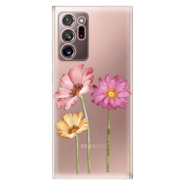 Odolné silikonové pouzdro iSaprio - Three Flowers - Samsung Galaxy Note 20 Ultra