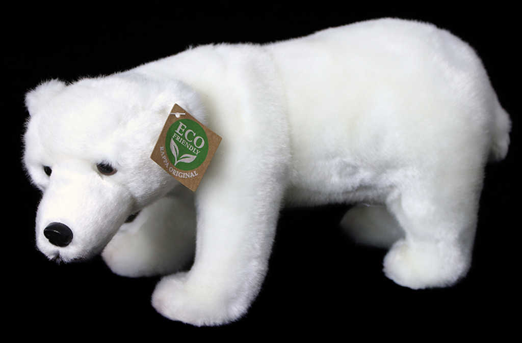 PLYŠ Medvěd bílý polární 28cm stojící Eco-Friendly *PLYŠOVÉ HRAČKY*