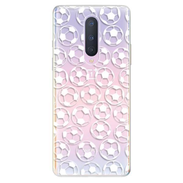 Odolné silikonové pouzdro iSaprio - Football pattern - white - OnePlus 8