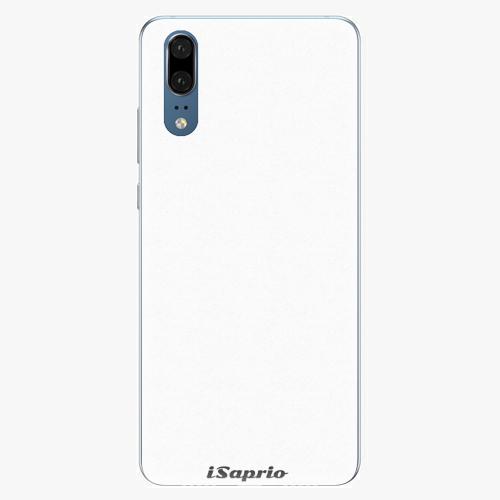 Silikonové pouzdro iSaprio - 4Pure - bílý - Huawei P20