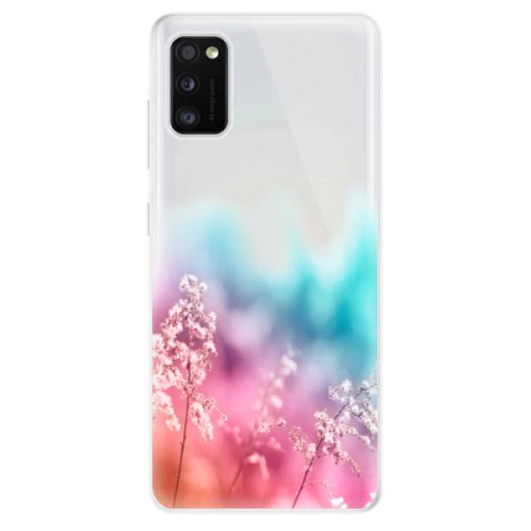 Odolné silikonové pouzdro iSaprio - Rainbow Grass - Samsung Galaxy A41