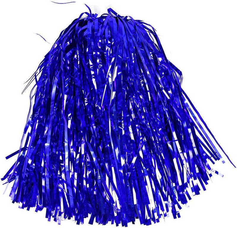 Mávátko sportovní POM POM modré třásně na fandění