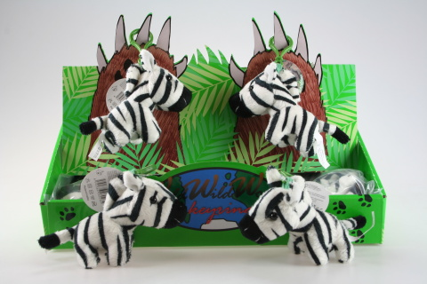 Plyš Zebra klíčenka 24/bal