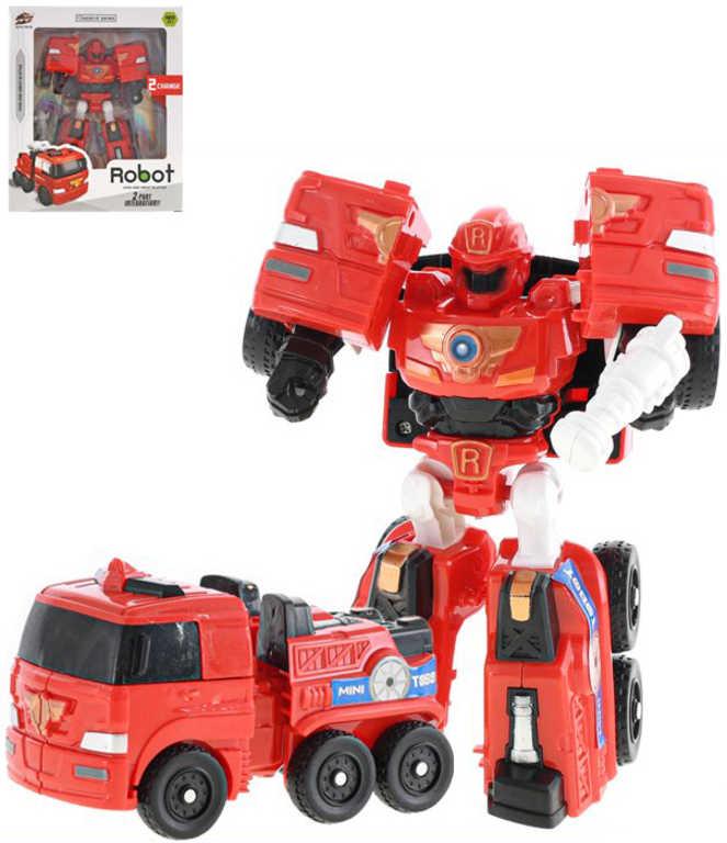 Auto nákladní/robot s transformací 16cm transrobot plast v krabici