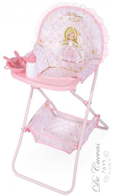 DECUEVAS Židlička jídelní Maria 2019 set s doplňky pro panenku miminko