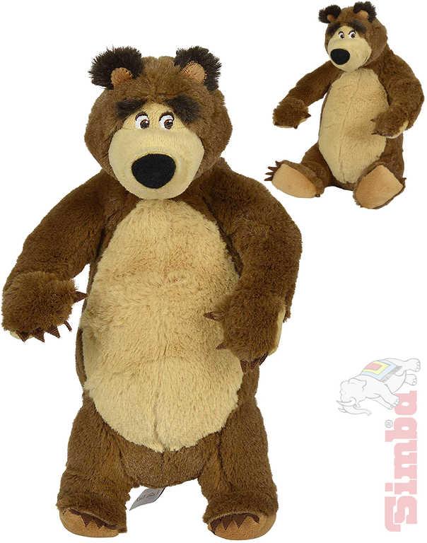 SIMBA PLYŠ Medvěd sedící / stojící 25 cm Máša a medvěd - 2 druhy