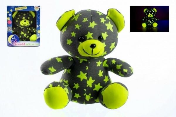 teddies-medvidek-svitici-ve-tme-21cm-sedy-zluty-plys