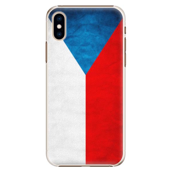 Plastové pouzdro iSaprio - Czech Flag - iPhone XS