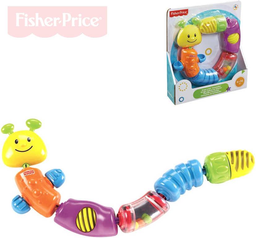FISHER PRICE Baby housenka chrastítko kousátko s aktivitami pro miminko