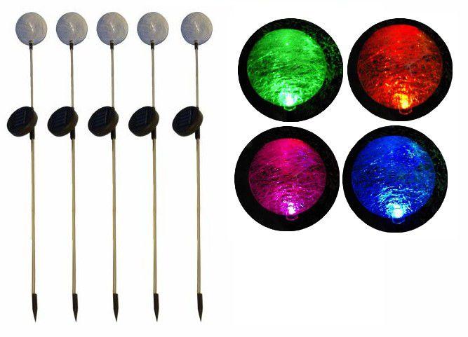 """REMO zahradní LED sada solárních světel Garth """"koule"""" s barevnou změnou 5 ks"""""""