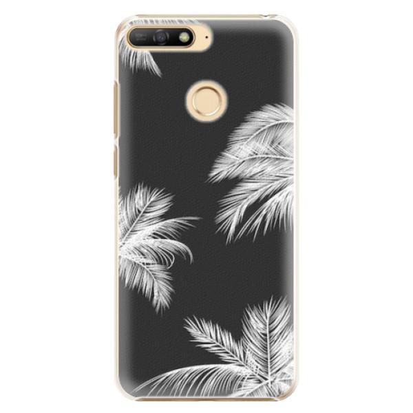 Plastové pouzdro iSaprio - White Palm - Huawei Y6 Prime 2018