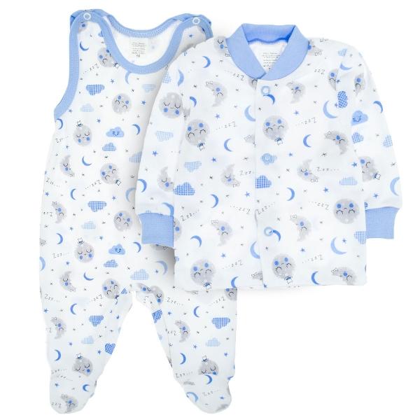 MBaby 2- dílná soupravička košilka + dupačky Dobrou noc vel. 68 - modrá - 68 (4-6m)