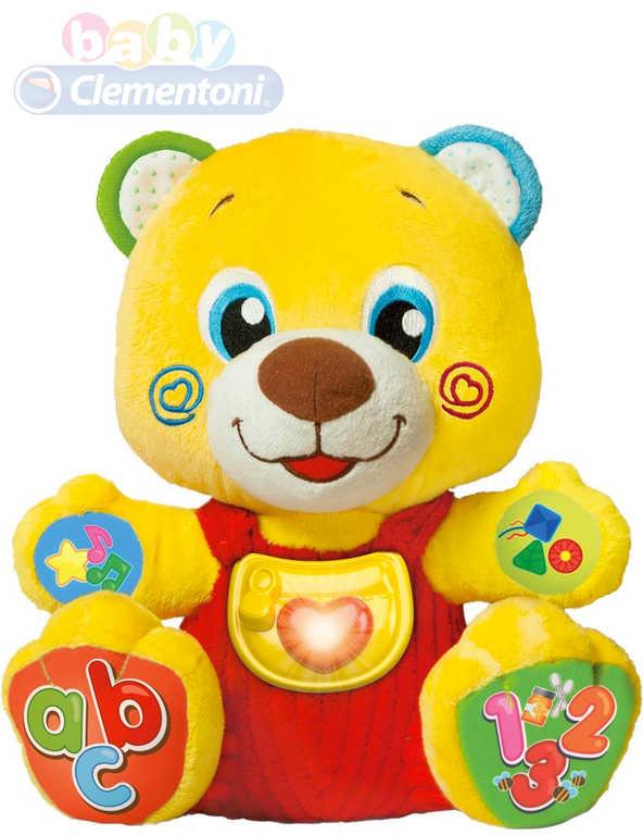 CLEMENTONI Baby medvídek interaktivní naučný na baterie Světlo Zvuk pro miminko