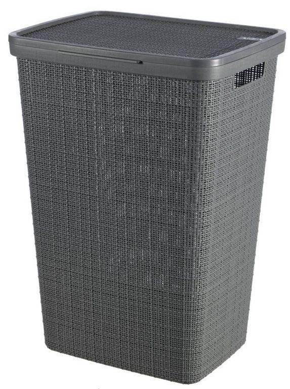 Koš na špinavé prádlo Jute - tmavě šedá