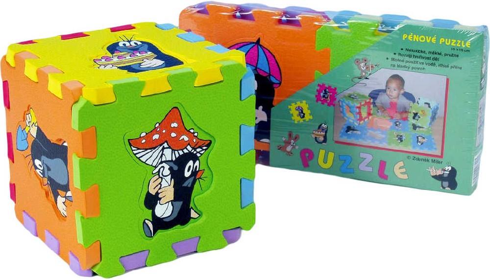 Měkké bloky / puzzle na zem KRTEK (krteček) 15 x 15 cm