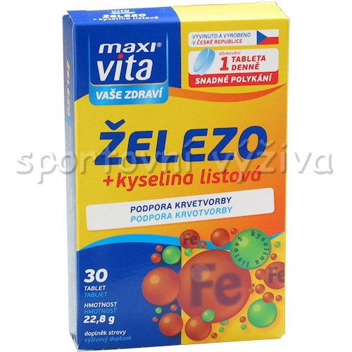 Maxivita železo + Kyselina Listová 30 tablet