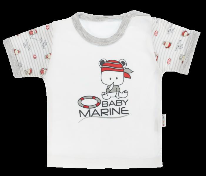 Bavlněné tričko Mamatti Pirát krátký rukáv