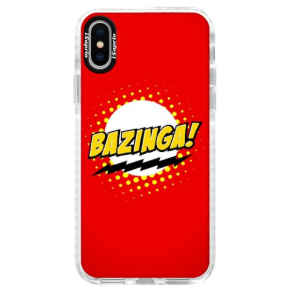 Silikonové pouzdro Bumper iSaprio - Bazinga 01 - iPhone X