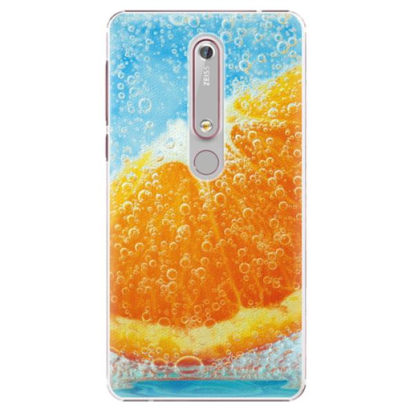 Plastové pouzdro iSaprio - Orange Water - Nokia 6.1