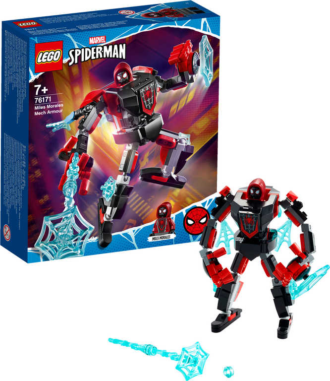 LEGO SUPER HEROES Miles Morales v obrněném robotu 76171 STAVEBNICE