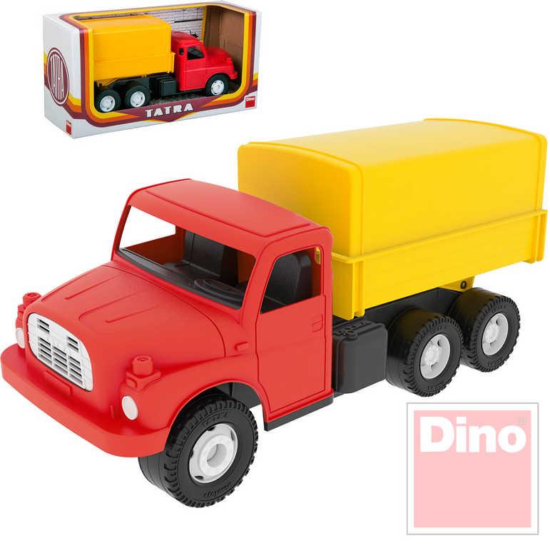 DINO Tatra T148 klasické nákladní auto na písek 30cm červenožlutá valník plachta