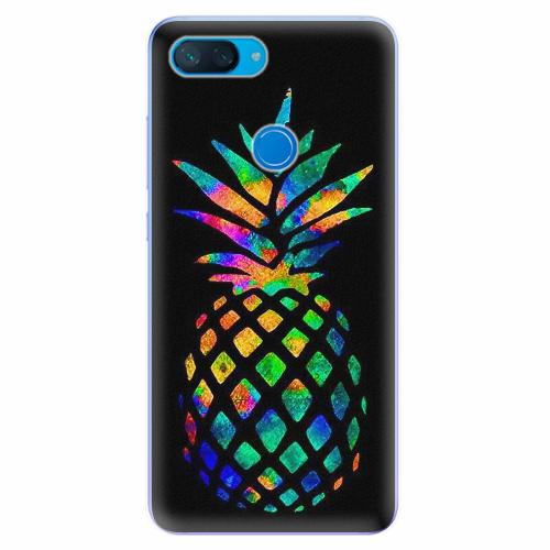 Silikonové pouzdro iSaprio - Rainbow Pineapple - Xiaomi Mi 8 Lite