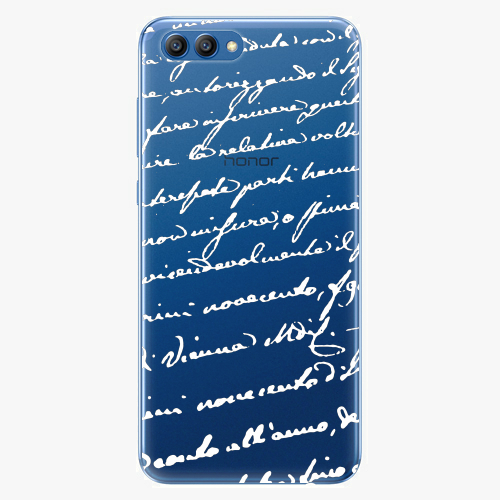 Plastový kryt iSaprio - Handwriting 01 - white - Huawei Honor View 10