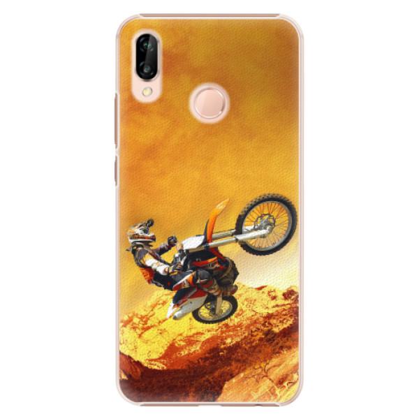 Plastové pouzdro iSaprio - Motocross - Huawei P20 Lite